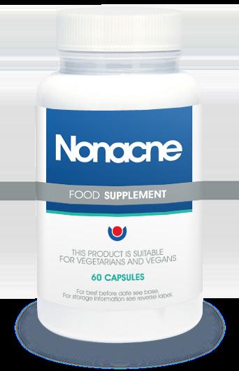 Das ist die Verpackung von Nonacne. Es bekämpft Akne an der Wurzel!